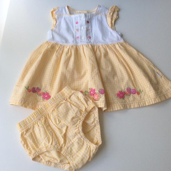 Little Me Other - Little Me Baby Girls Citrus Sundress Set | 12 mos.